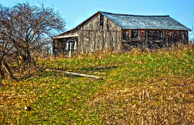 Barn Photograph - Tumbledown by Steve Harrington