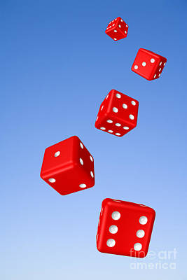 Tumbling Dice And Sky Art Print