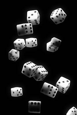 Bone Photograph - Tumbling Dice by Tom Mc Nemar