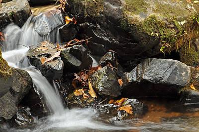 Crabtree Falls Photograph - Tumbling Water In Big Crabtree Creek Norrth Carolina by Bruce Gourley