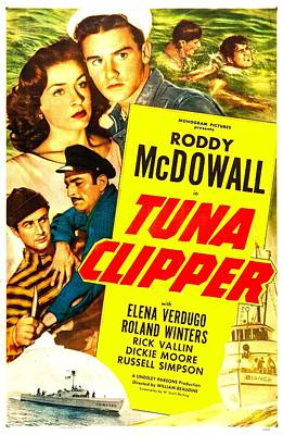 Tuna Clipper, Us Poster, Top From Left Print by Everett