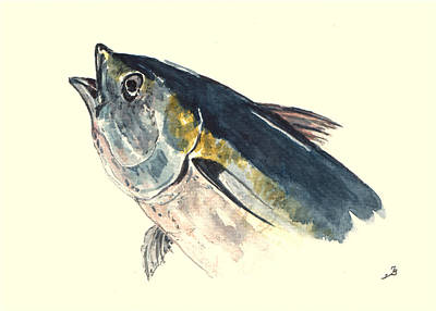 Tuna Fish Print by Juan  Bosco