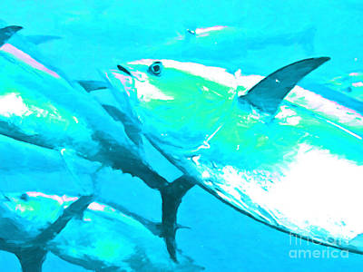 Yellowfin Digital Art - Tuna Fish P88 by Wingsdomain Art and Photography