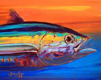 Tuna Portrait Art Print by Savlen Art