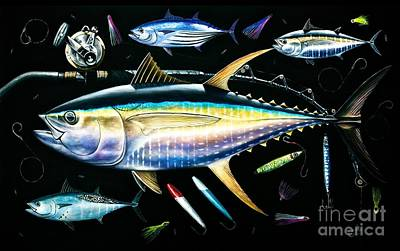 Painting - Tuna Temptations by Johnny Widmer