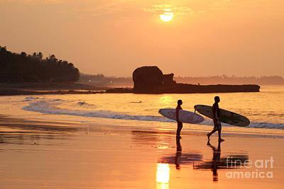 Surf Photograph - Tunco Sunrise Surfers by Stav Stavit Zagron