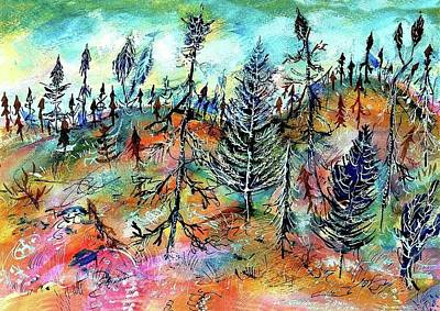 Canadian Art Drawings Drawing - Quebec Taiga Landscape by Ion vincent DAnu
