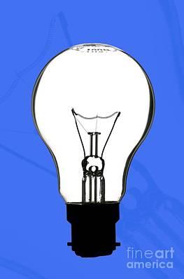 Tungsten Filament Light Bulb Art Print