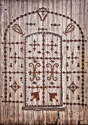Old Door Photograph - Tunisian Door by Delphimages Photo Creations