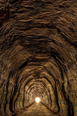 Tunnel 3 On Elroy To Sparta Bike Trail Wisconsin Art Print