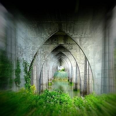 Tunnel Effect Art Print