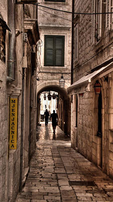 Photograph - Tunnel In The White Streets Of Dubrovnik by Weston Westmoreland
