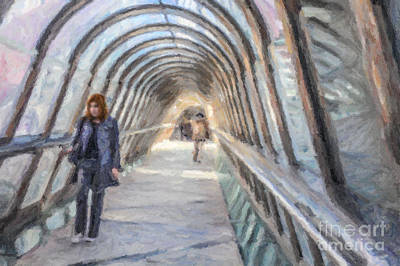 Digital Art - Tunnel by Liz Leyden