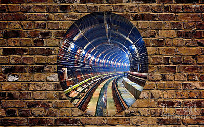Mixed Media - Tunnel by Marvin Blaine