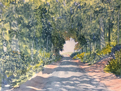 Painting - Tunnel Of Trees On Woldgate by Glenn Marshall