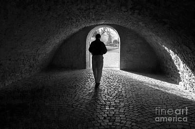 Photograph - Tunnel Silhouette Bw by Morgan Wright
