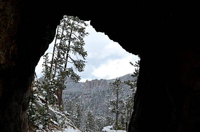 Photograph - Tunnel Through The Black Hills  by Clarice  Lakota