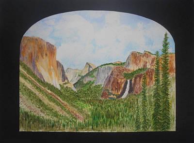 El Capitan Painting - Tunnel View by David  McCauley