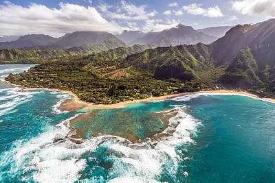 Photograph - Tunnels Beach Kauai by Pierre Leclerc Photography