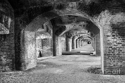 Photograph - Tunnels Bw by Alison Tomich