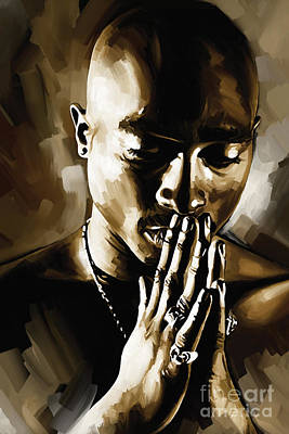 Singers Painting - Tupac Shakur Artwork  by Sheraz A