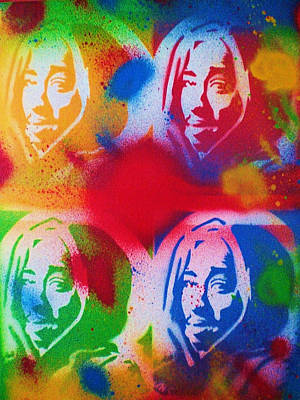 Hip Hop Painting - Tupac V Warhol by Leon Keay