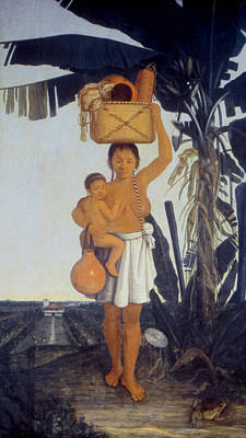American Indian Children Painting - Tupinamba Native Indian Woman Of Brazil by Granger