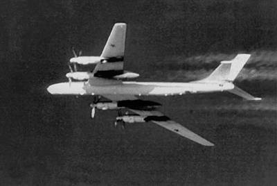 B-52 Mixed Media - Tupolev 95 Bear Black And White by L Brown