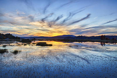 Tupper Lake Sunset Hdr 01 Art Print