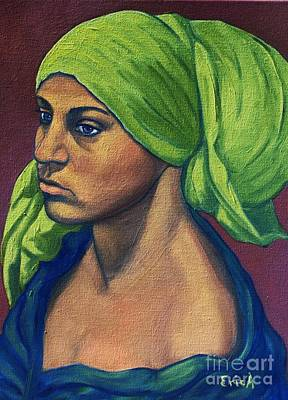 Italian Night Life Painting - Turbaned Girl by EricA Art
