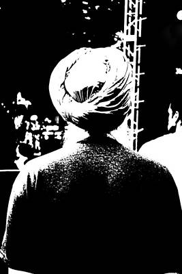Turbante Blanco Y Negro Art Print