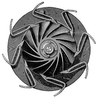 1898 Photograph - Turbine Design by Science Photo Library