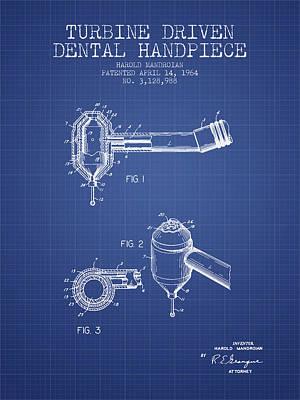 Dental drill art fine art america dental drill wall art digital art turbine driven dental handpiece patent from 1964 malvernweather Image collections