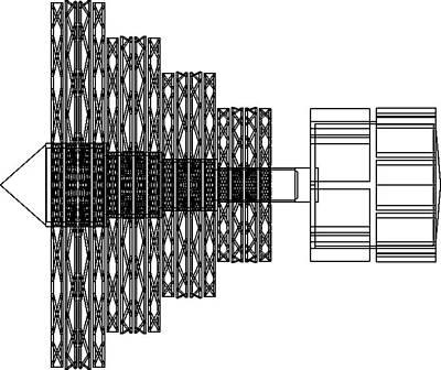 Turbine Wire Frame Original by Chris  Morton