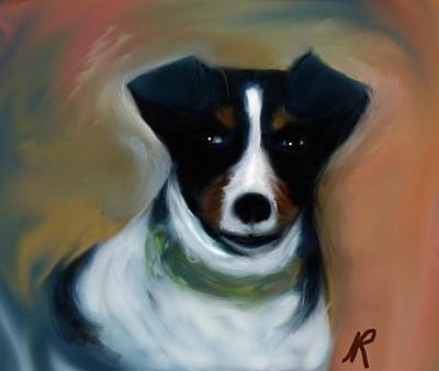 Fox Terrier Digital Art - Turbo by Naomi Richmond