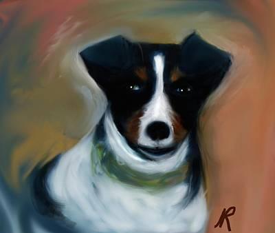 Terrier Digital Art - Turbo by Naomi Richmond