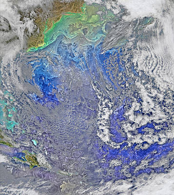 Phytoplankton Photograph - Turbulence In The Atlantic Ocean by Science Source