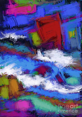 Turbulence Art Print by Keith Mills