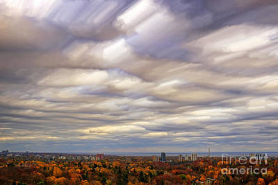 Photograph - Turbulent Clouds Timelapse by Charline Xia