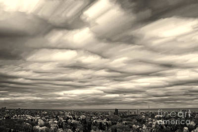 Photograph - Turbulent Winter Sky by Charline Xia