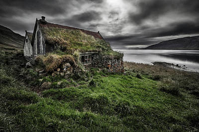 Old House Photograph - Turf And Stones by Bragi Ingibergsson -