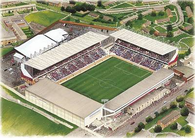 Sports Paintings - Turf Moor - Burnley by Kevin Fletcher