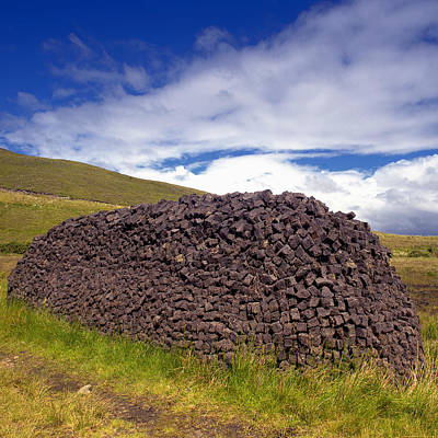 Rolled Yard Photograph - Turf Stack Co. Mayo Ireland by Michael Walsh