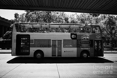 Hop On Hop Off Bus Photograph - turistik open top city bus tours of Santiago Chile by Joe Fox