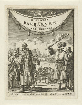 Clergy Drawing - Turk And Clergy With Slaves, Jan Luyken, Jan Claesz Ten by Jan Luyken And Jan Claesz Ten Hoorn