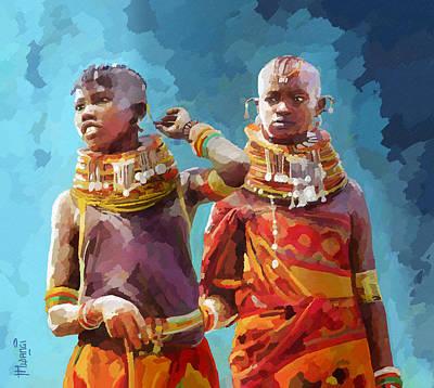 Young Turkana Girls Original by Anthony Mwangi