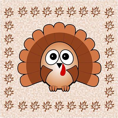 Funny Digital Art - Turkey - Birds - Art For Kids by Anastasiya Malakhova