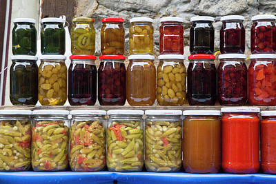 Outdoor Still Life Photograph - Turkey, Bursa Preserved Fruits, Pickled by Emily Wilson