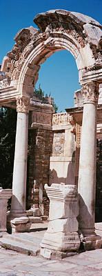 Turkey, Ephesus, Building Facade Art Print