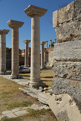 Turkey, Ephesus Ruins Of The Basilica Art Print